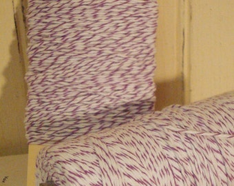 Purple and  Bright  White Baker's Twine - 20 Yards