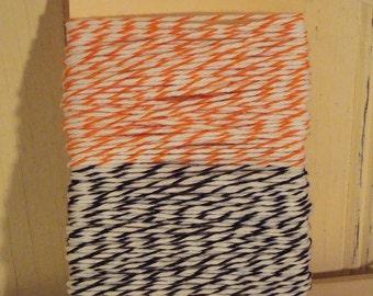 Orange and Black  Bakers Twine - 20 Yards