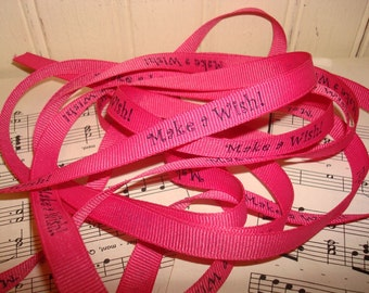 Make A Wish - Printed Grosgrain Ribbon - 3 Yards