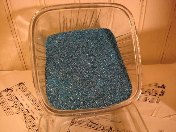 Sky Blue Vintage Style German  Glass Glitter - 2 OZ - Fine Grade