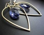 Demeter  - swarovski crystal, 14k gold fill, and brass - handmade earrings