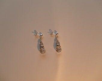 Tapered Swarovski Dangle Earrings
