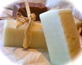 Sweet Orange and Peppermint soap VEGAN handmade cold process Large bar 4.5 - 5 oz