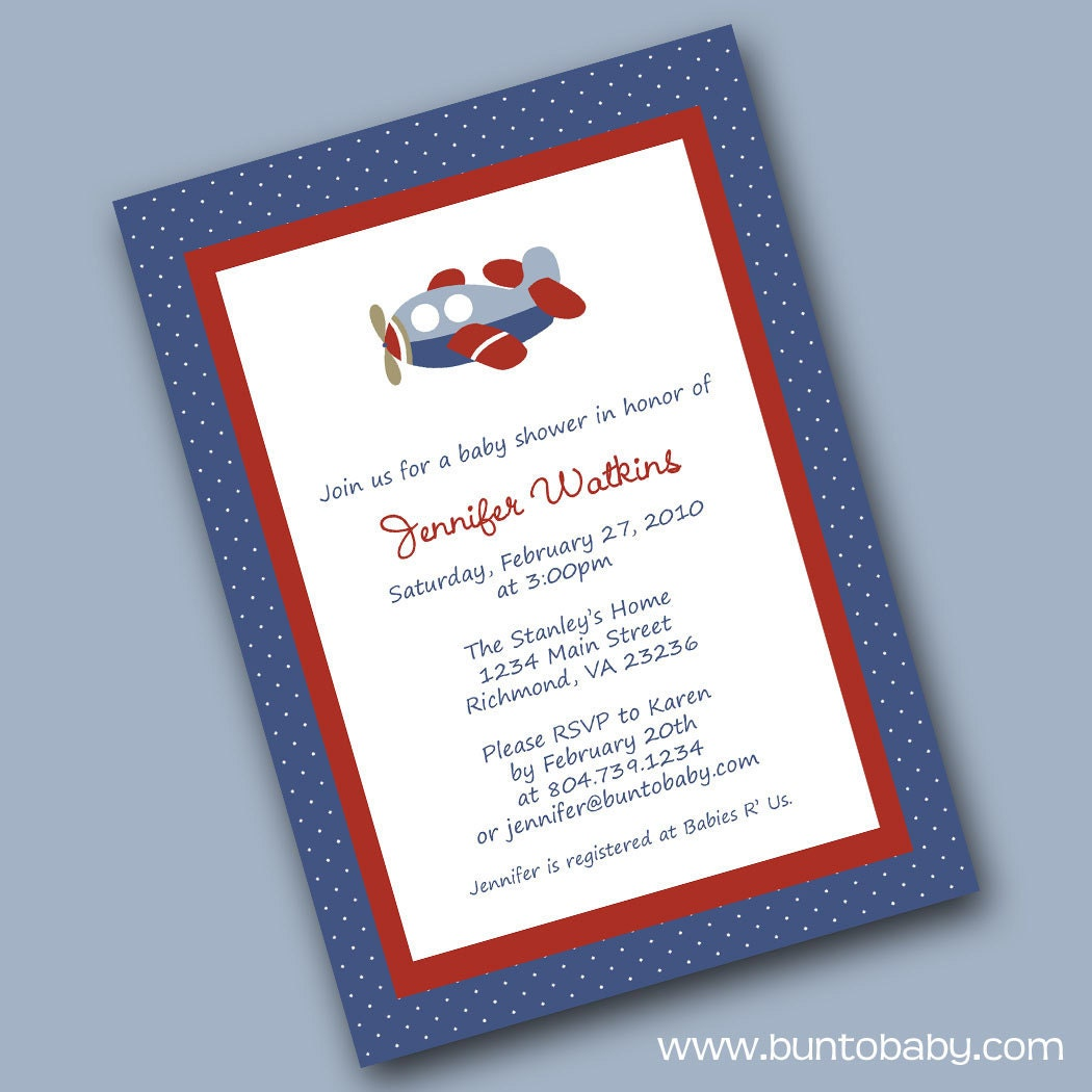 Airplane Baby Shower Invitations Was Awesome Invitations Design