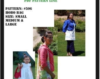 Sm, Md and Lg Hobo Bag PDF sewing Pattern
