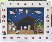 Christmas Nativity Advent Calendar, magnetic, pattern