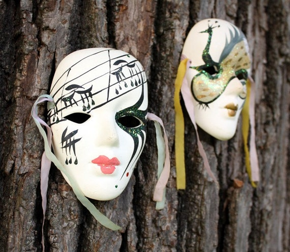 Decorative Wall Face Masks : Decorative porcelain face mask wall art by sopasse on etsy