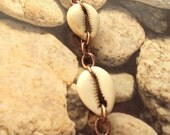 Cowrie Shell and Antiqued Copper Chain Bracelet