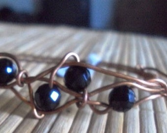 Wire Wrapped Bangle Bracelet Copper Bracelet
