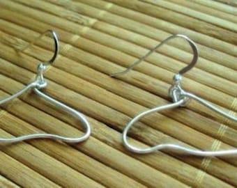 Wire Wrapped Fine Silver Wire Earrings Wire Earrings