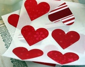 Valentine's Day Stickers Heart Stickers Envelope Seals Labels Various Patterned Paper Red White