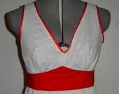 V-Neck Maxi Dress, Fabric choice and Custom Sized