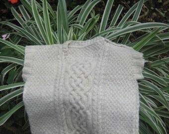 Handspun, handknit vest for children