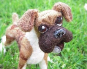 Custom - Bruno the needle felted boxer dog - large size