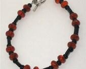 PIF    Black and Orange Bracelet    Perfect for Halloween