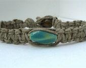 Reserved for Aprikot Raku Bead Hemp Bracelet