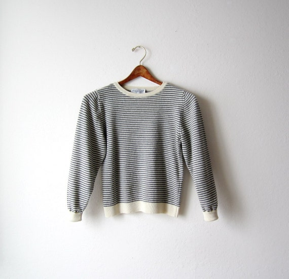Vintage Nordstrom Nautical Striped Sweater Size Extra Small to Small