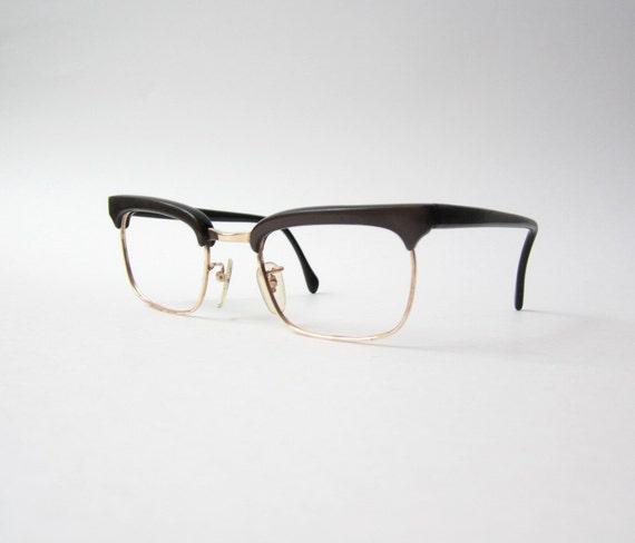 PRICE REDUCED - Vintage Wayfarer Dark Brown Eyeglasses Frames