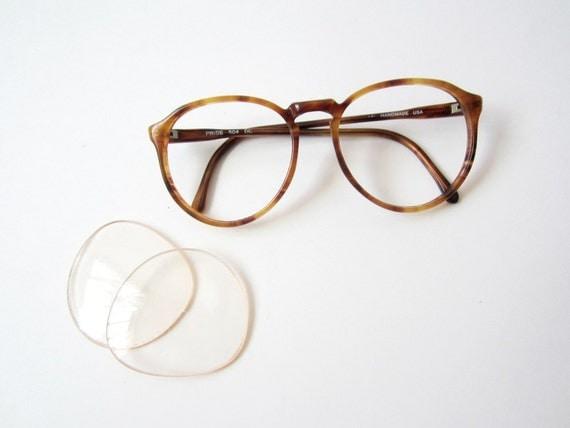 Vintage Round Wayfarer Tortoiseshell Eyeglasses Frames