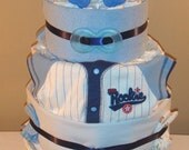 Lil All Star 4 Tier Diaper Cake - Blue