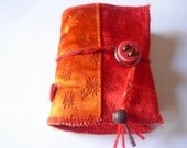 CHEERFUL ORANGE  - Mini handbound book -