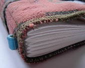 Antique pink - perfect purse size, handbound journal -
