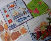 DESTASH - 10 Decoupage paper napkins -