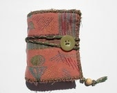 SALE - A mini version of the Antique Pink - Handbound mini journal -