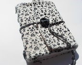 Black and white... tres chic - handbound journal -