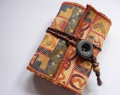 SALE -Cleopatra - Perfec purse size handbound journal - recycled paper