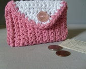 Credit Card Coin Purse/Business Card Holder / BREAST CANCER AWARENESS