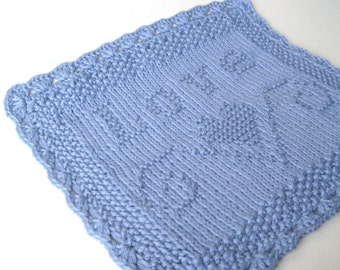 Luxury Knit Hand Towel - LOVE Embossed Design