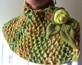 The Enchanted Garden LUXURIOUS Knit Cowl / Neckwarmer