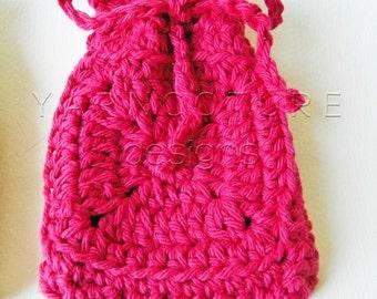 Hand Crocheted Granny Square Fiber Art Soap Holder