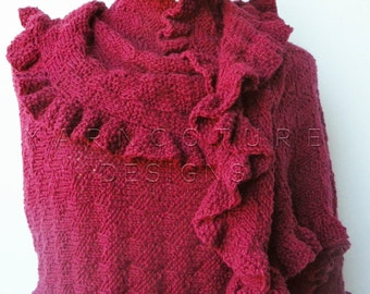 The EXTREME Ruffles Shawl - Luxury Wrap / You Choose The Color