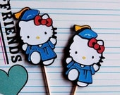 Hello Kitty Graduation Cupcake Picks (6)