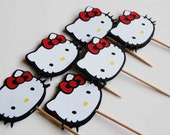 Hello Kitty Cupcake Picks (12)