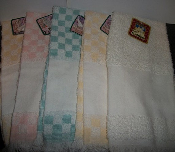 5 charles craft hand towels for cross stitch or embroidery for Charles craft cross stitch fabric
