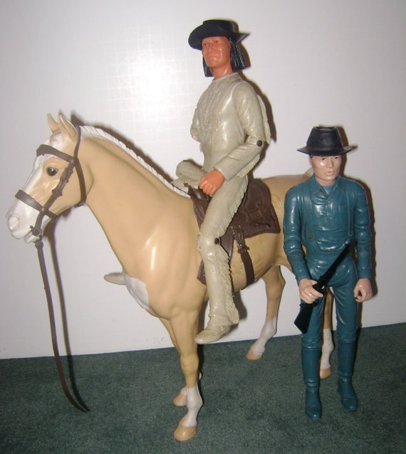 Johnny West Doll with Geronimo and Horse