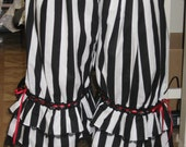 DDNJ Steampunk Gothic Pirate Gypsy Bloomers Pantaloon Costume Larp Anime Lolita Plus Custom Made ANY Size Victorian Wench Medieval Halloween
