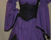 DDNJ Choose Fabrics Renaissance Reversible Corset Style Bodice Chemise Skirt 3 pc Larp 400 Plus Fabrics Custom Made Your Measurements
