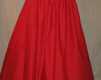 DDNJ Choose Color Cotton TALL Skirt Renaissance Civil War Pirate Gypsy Witch Wedding Plus Custom Made ANY Size Medieval Costume Halloween