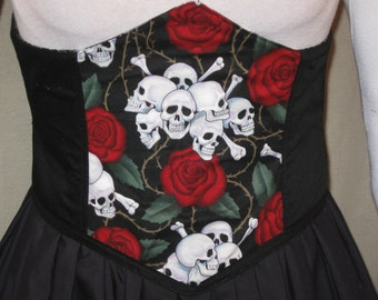 DDNJ Choose Fabrics Reversible Corset Style Cincher Costume Plus Custom Made ANY Size Renaissance Steampunk Gypsy Pirate Lolita Vampire SCA
