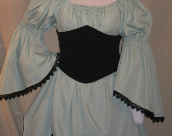 DDNJ Choose Color Renaissance Vampire Witch Gypsy Fairy Chemise Cosplay LARP Anime Plus Custom Made ANY Size Medieval Pirate Costume Sprite