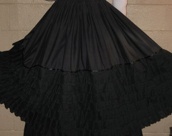 DDNJ  Embroidered Cotton Lace Skirt Hoop Crinoline Cosplay LARP Anime Plus Custom Made ANY Size Renaissance Goth Vampire Steampunk