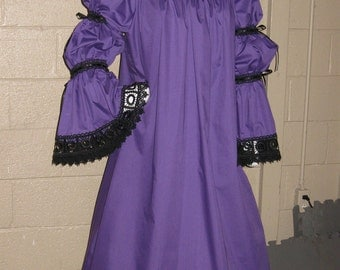 DDNJ Choose Color 2Tier Keyhole Chemise Plus Custom Made ANY Size Renaissance Pirate Goth Vampire Gypsy Medieval Victorian Costume  Wedding
