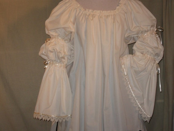 DDNJ NEW Ready to Ship Renaissance Gypsy Pirate Court Wench Chemise SCA Custom Made Your Measurements Steampunk Victorian Anime Lolita