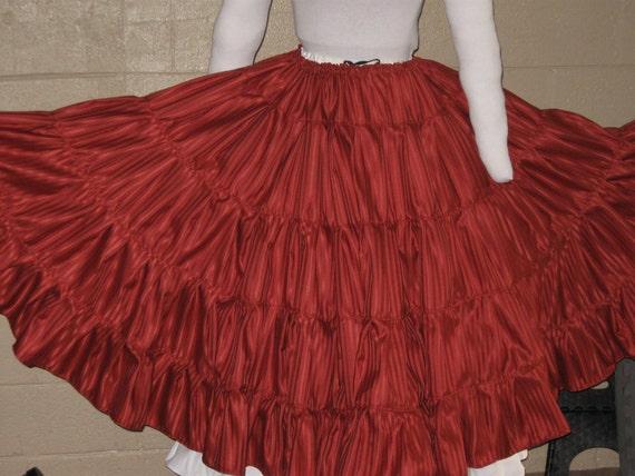 DDNJ NEW Ready to Ship Silk Taffeta Multi Tier Crinoline Skirt  Renaissance Belly Dance Civil War Pirate Gypsy Wedding  Anime Quincetta