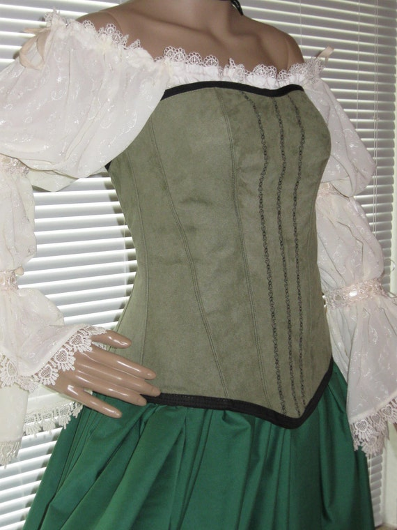 DDNJ Choose Fabric Reversible Sweetheart Corset Renaissance Plus Custom Made Any Size Gypsy Pirate Anime Cosplay Medieval Fairy Goth Costume