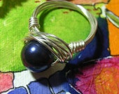 Instant Download Jewelry TUTORIAL Ring DIY Pearl Birds Nest Adjustable Wire Wrapped Ring  No 7